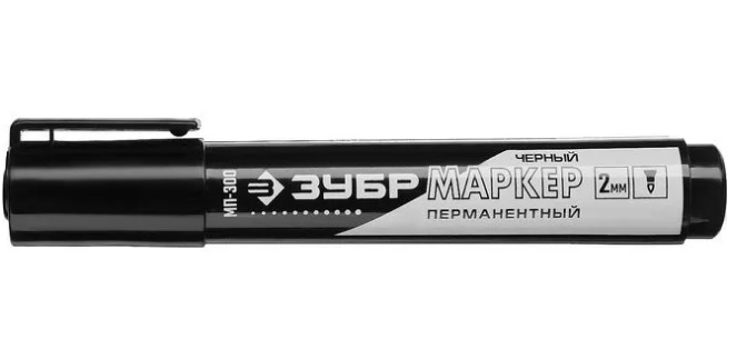 ЗУБР КОЛИБРИ черный, 0.7-1 мм перманентный  маркер для отверстий