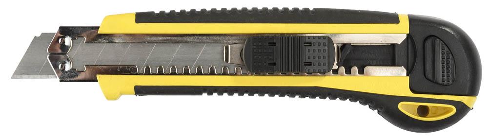 Нож с автозаменой и автостопом с доп. фиксатором HERCULES-18, 3 сегмент. лезвия 18 мм, STAYER