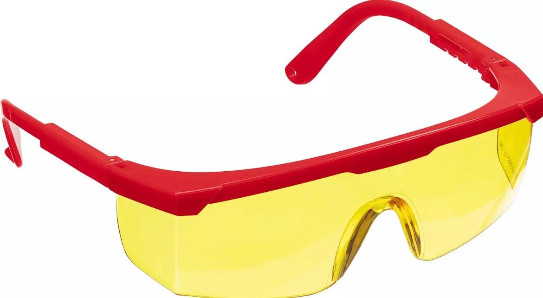 ЗУБР Спектр 5 Желтые, очки защитные открытого типа, регулируемые по длине дужки.
