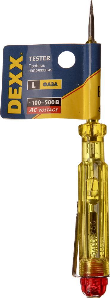 Пробник DEXX электрический, с этикеткой, 100-500В, 130мм
