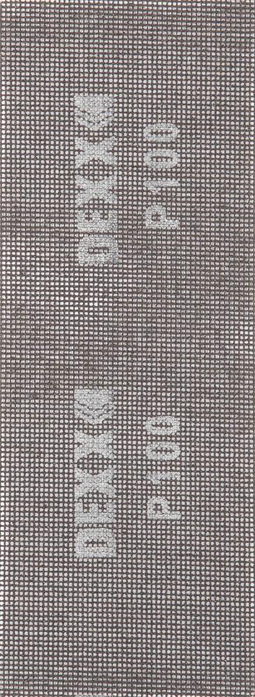 Шлифовальная сетка DEXX абразивная, водостойкая Р 100, 105х280мм, 3 листа