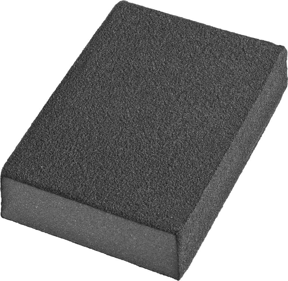 Губки шлифовальные DEXX четырехсторонняя, средняя жесткость, Р120, 100х68х26мм