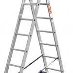Лестница ЗУБР универсальная, двухсекционная со стабилизатором, 8 ступеней