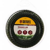 Леска для триммера двухкомпонентная, квадратная 2.65 мм x 15 м Extra cord Denzel